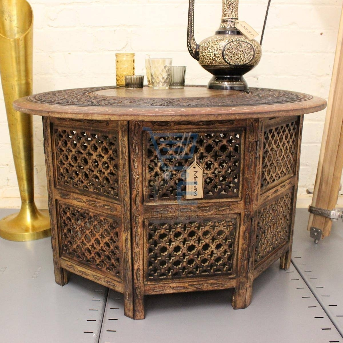 Round Carved Wood Coffee Table The Best Indian Coffee Tables within Round Carved Wood Coffee Tables (Image 23 of 30)