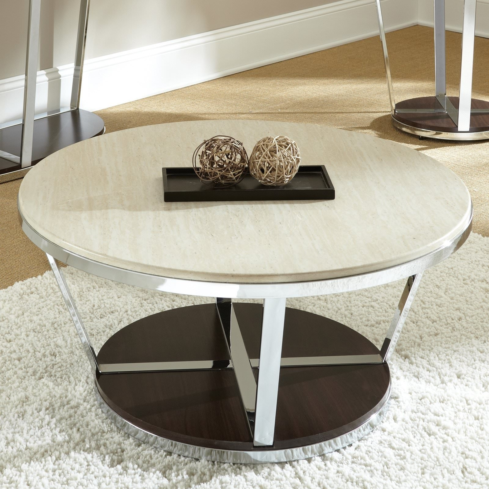 Round Faux Marble Coffee Table — Sushi Ichimura Decor : Stylish Faux Pertaining To Jackson Marble Side Tables (Image 20 of 30)