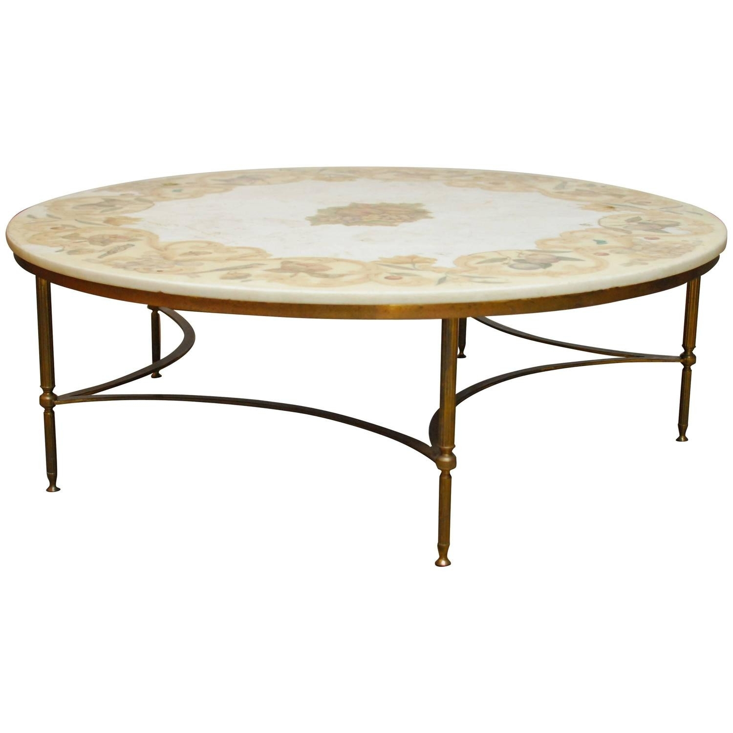 Round Marble And Brass Coffee Table – Coffee Table Ideas Within Smart Round Marble Brass Coffee Tables (View 26 of 30)