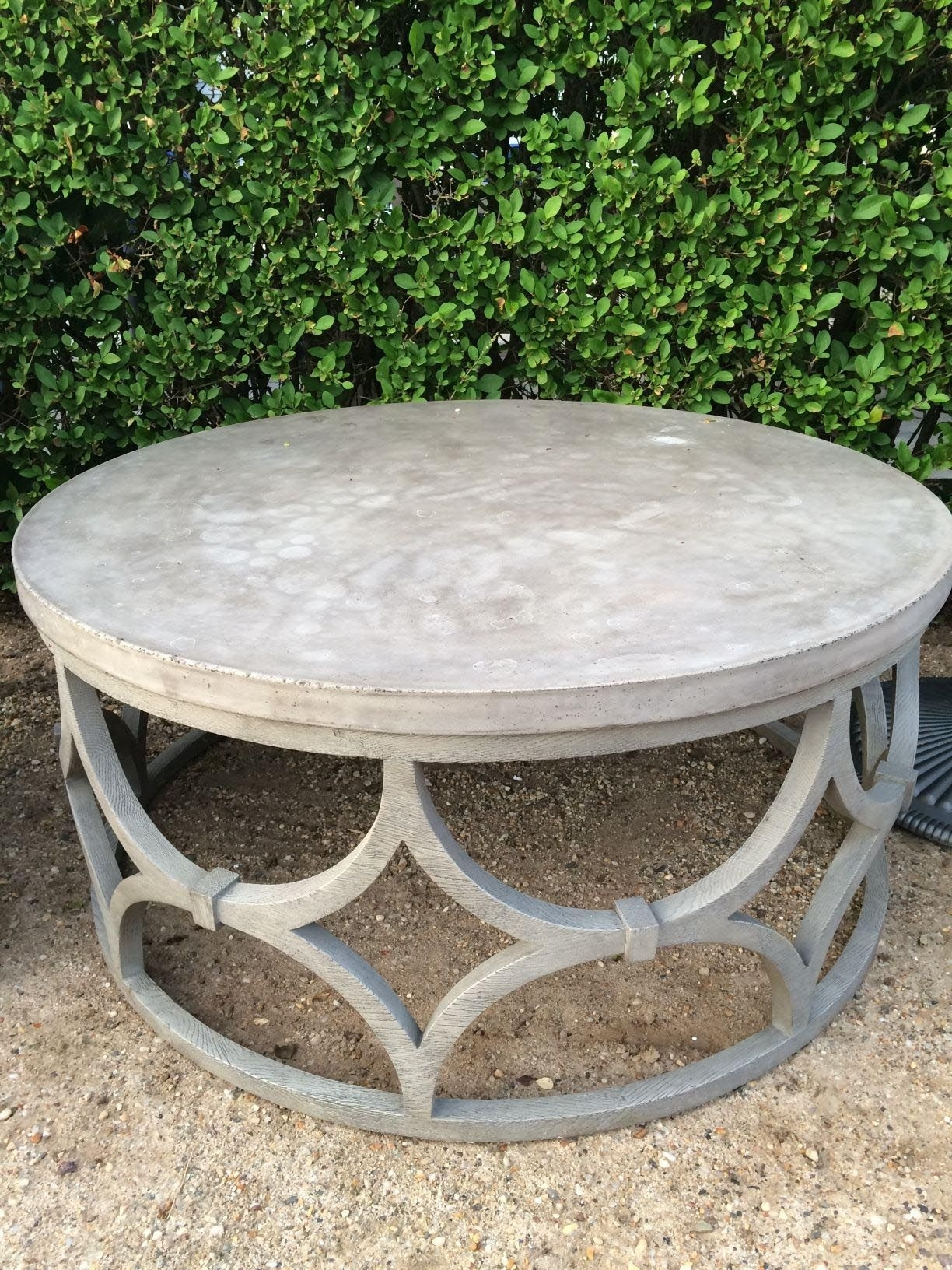 Round Outdoor Coffee Table | Coffee Tables | Pinterest | Outdoor for Jackson Marble Side Tables (Image 22 of 30)