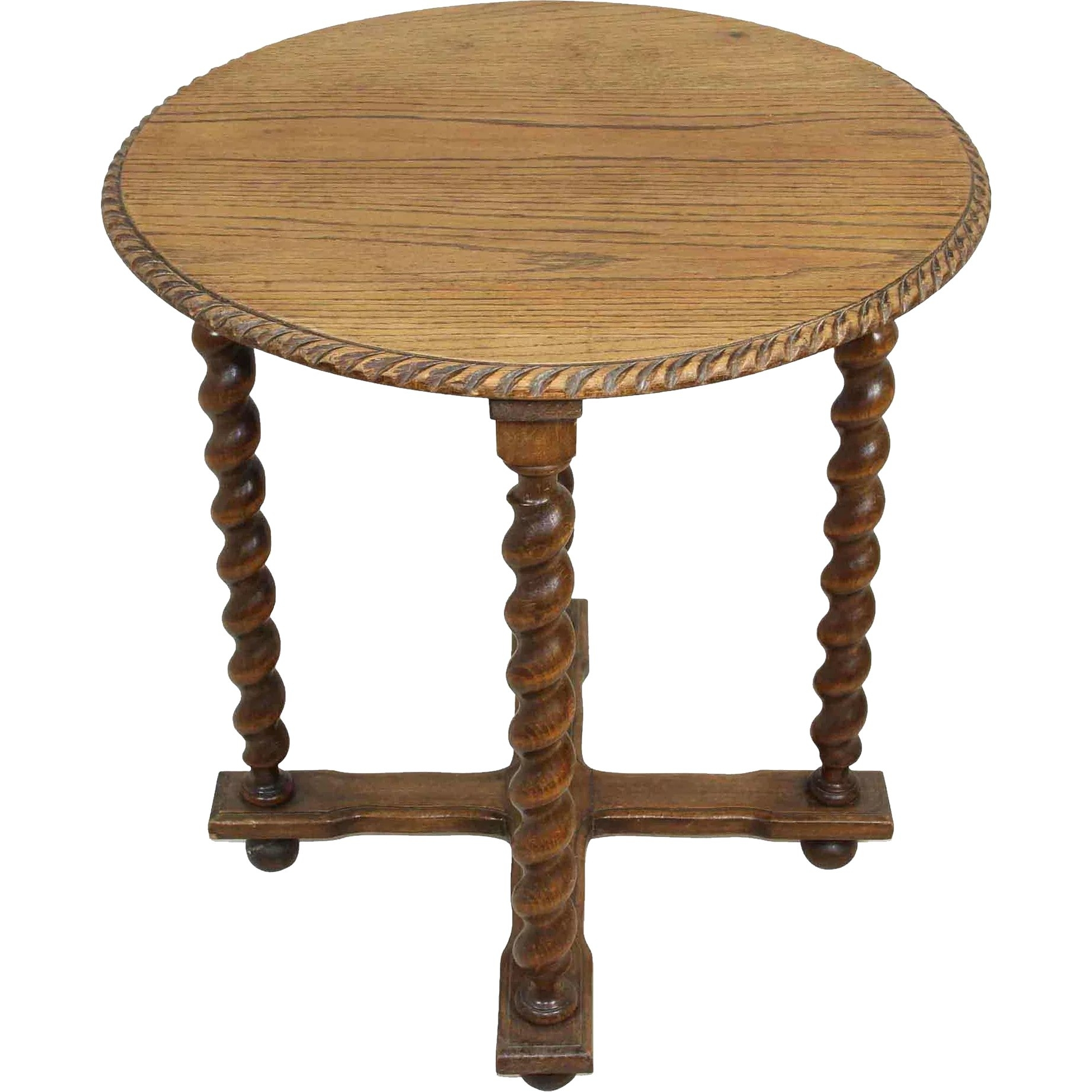 Round Table With Barley Twist Legs : Ski Country Antiques & Home in Barley Twist Coffee Tables (Image 21 of 30)