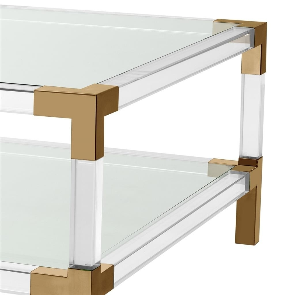 Royalton Acrylic & Brass Coffee Table | Shop Now with regard to Acrylic & Brushed Brass Coffee Tables (Image 18 of 20)
