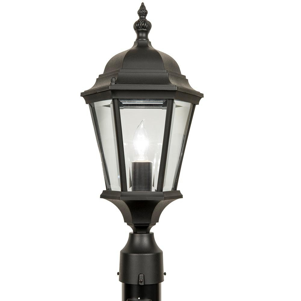 Rust Resistant - Post Lighting - Outdoor Lighting - The Home Depot throughout Rust Proof Outdoor Lanterns (Image 12 of 20)