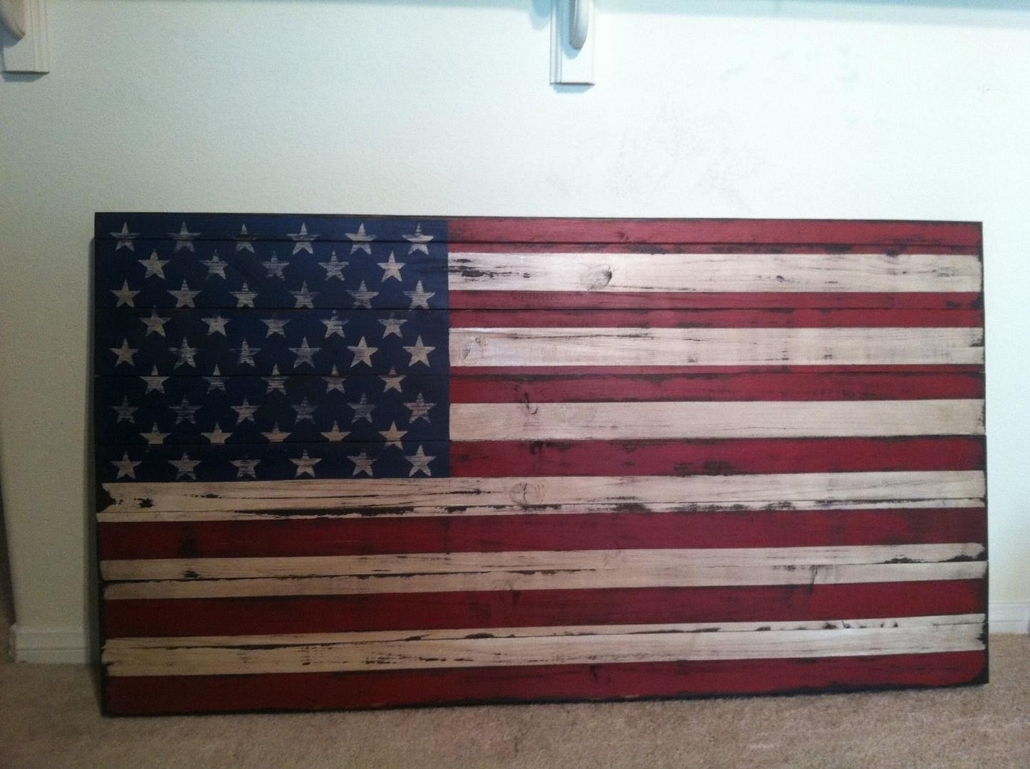 Rustic American Flag Wall Art   #1721961783 Pertaining To Rustic American Flag Wall Art (View 20 of 20)