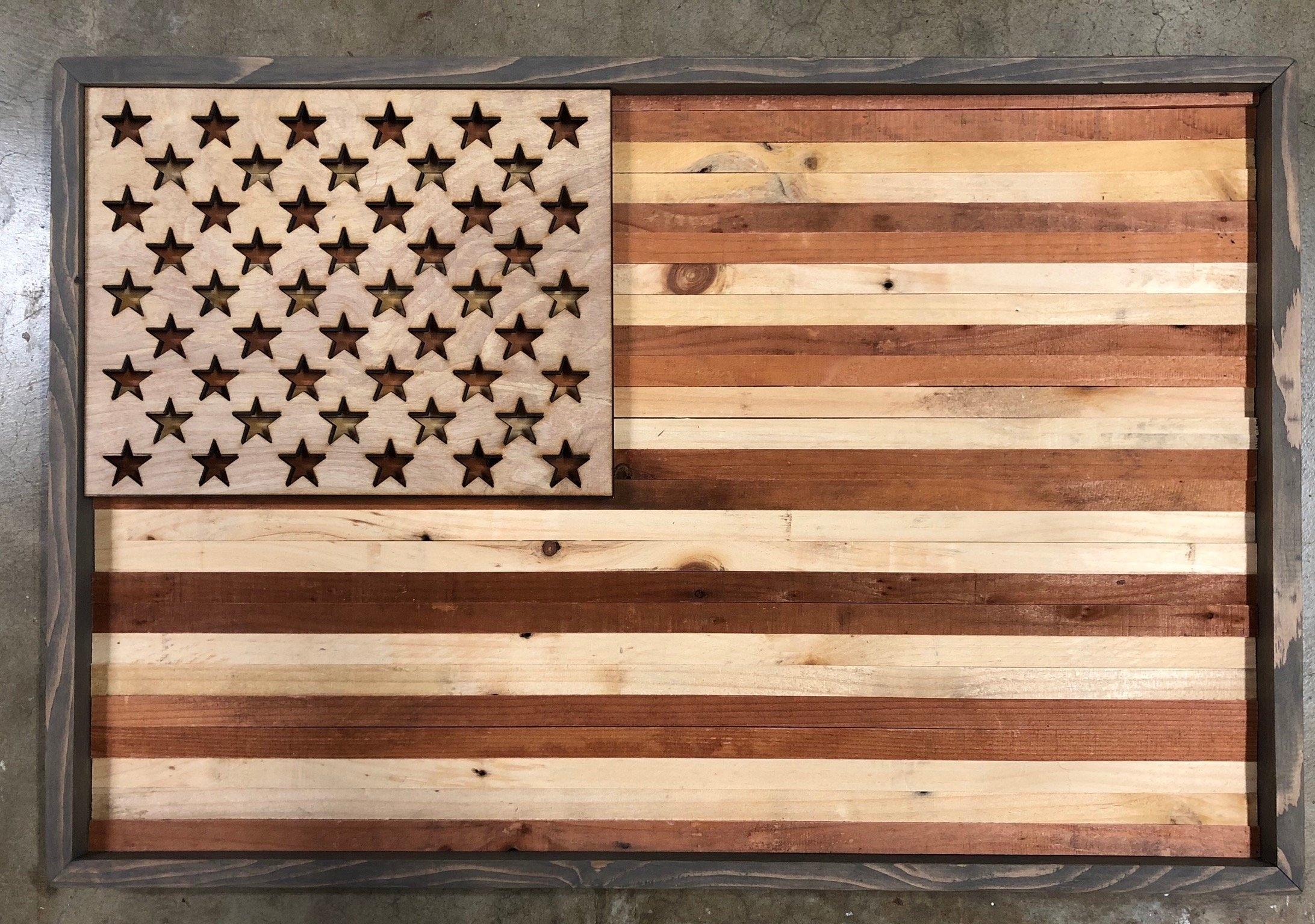 Rustic American Flag Wall Art Inside Rustic American Flag Wall Art (View 9 of 20)