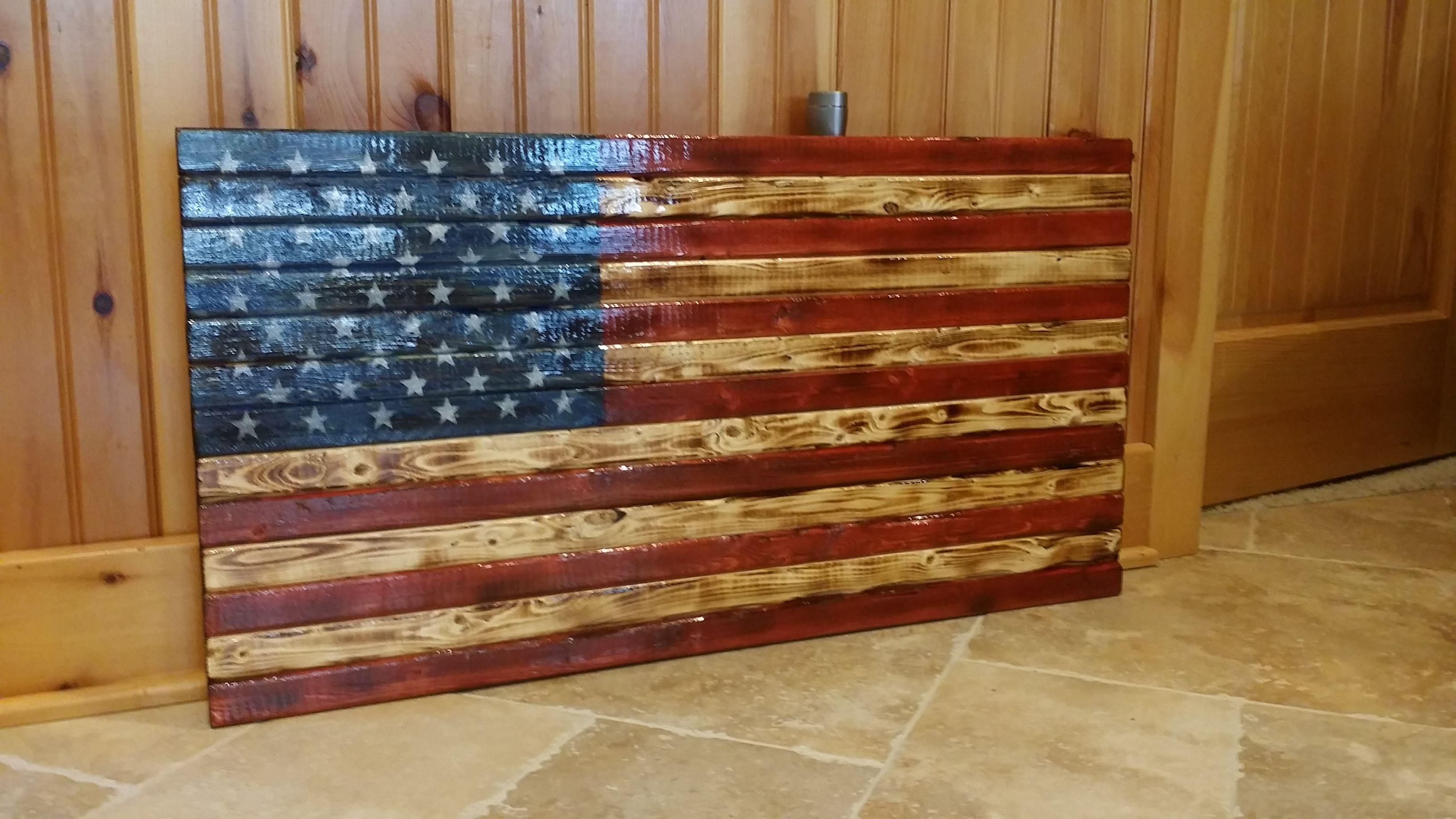 Rustic American Flag Wooden Wall Art (View 11 of 20)