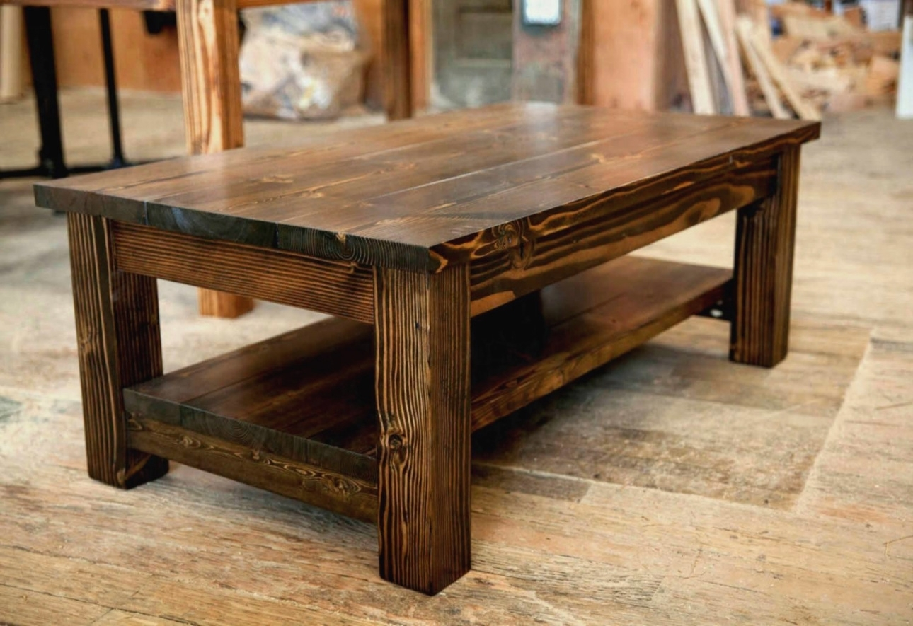 Rustic Coffee Table Set Fresh Size Coffee Tables Cube Trunk Storage throughout Modern Rustic Coffee Tables (Image 23 of 30)