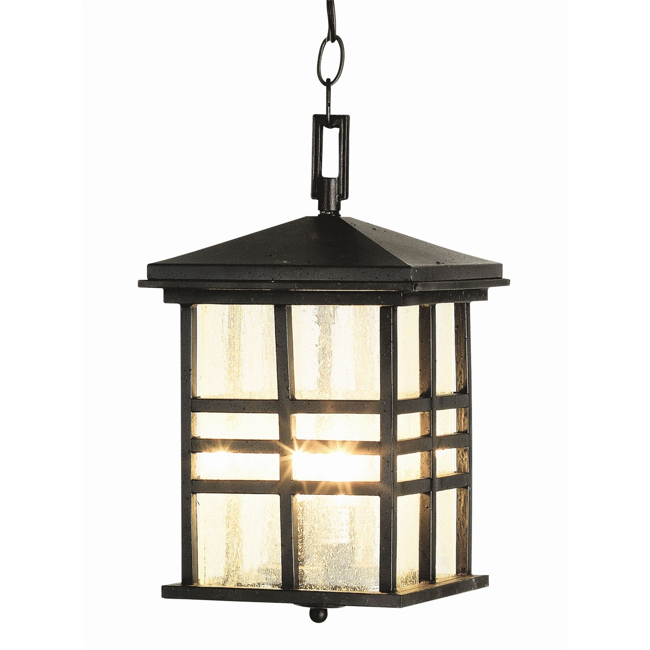 Rustic Craftsman Outdoor Hanging Lanterntrans Globe | 4638 Bk regarding Outdoor Rustic Lanterns (Image 14 of 20)