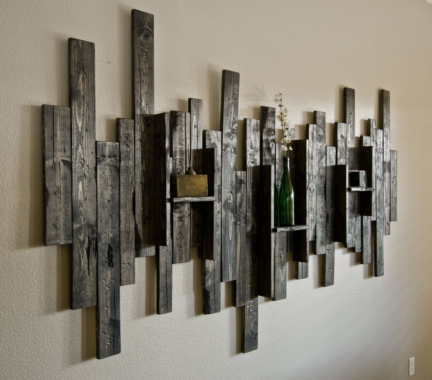 Rustic Display Shelf Decorative Wall Art | Diy | Pinterest | Display for Large Rustic Wall Art (Image 17 of 20)