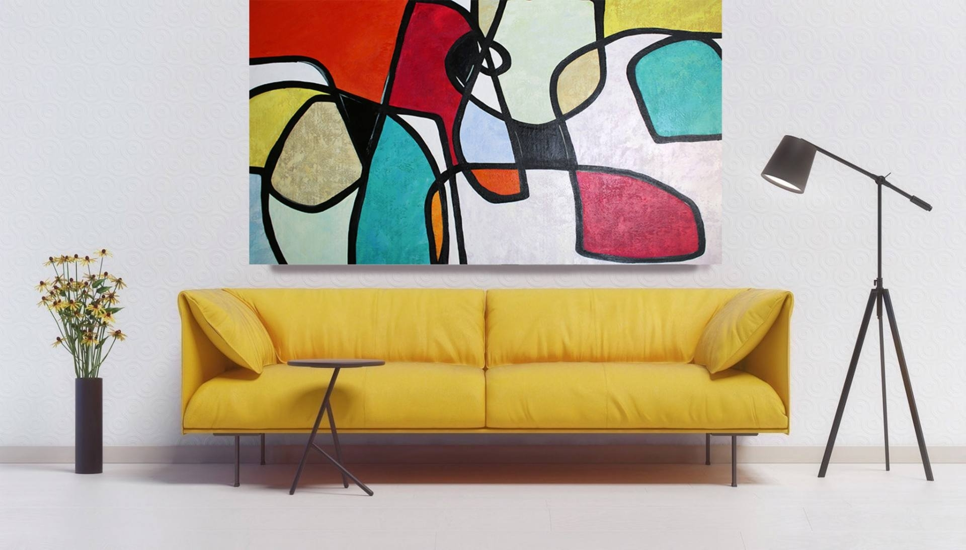 Saatchi Art: Vibrant Colorful Mid Century Abstract 0 16 Original Oil Intended For Mid Century Wall Art (View 5 of 20)