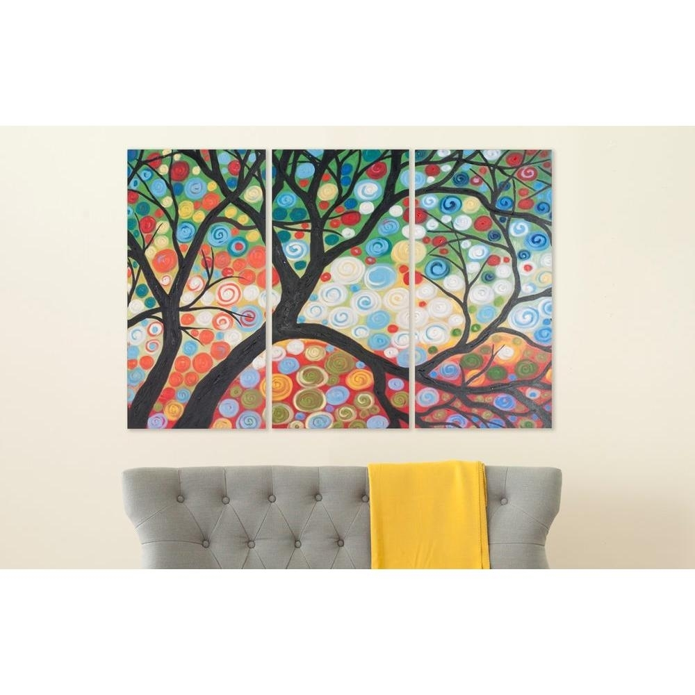"Safavieh 36 In. X 18 In. ""cherry Blossom"" Wall Art-Art2030A - The intended for Cherry Blossom Wall Art (Image 15 of 20)"