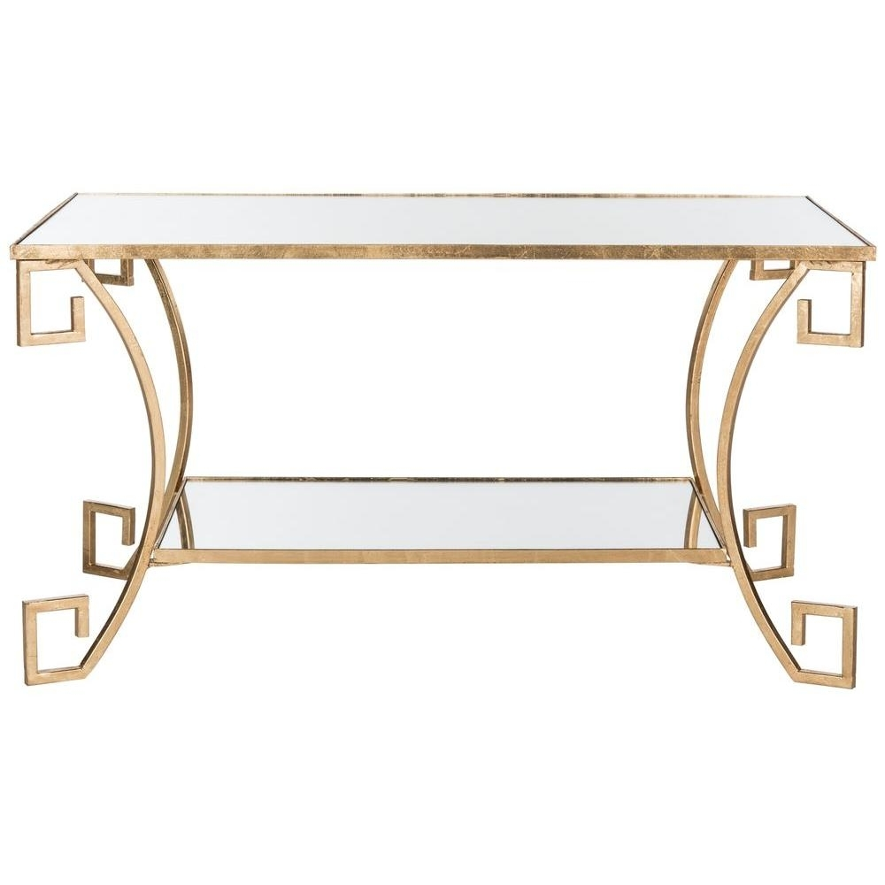 Safavieh Yasemeen Antique Gold Leaf Coffee Table-Fox2572A - The Home regarding Gold Leaf Collection Coffee Tables (Image 24 of 30)