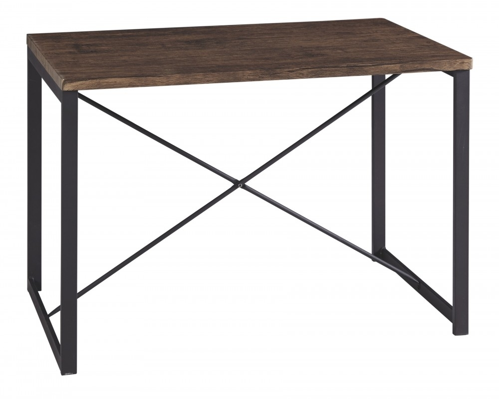 Samcott - Brown/bronze Finish - Rectangular Dining Room Table | D167 inside Joni Brass And Wood Coffee Tables (Image 28 of 30)