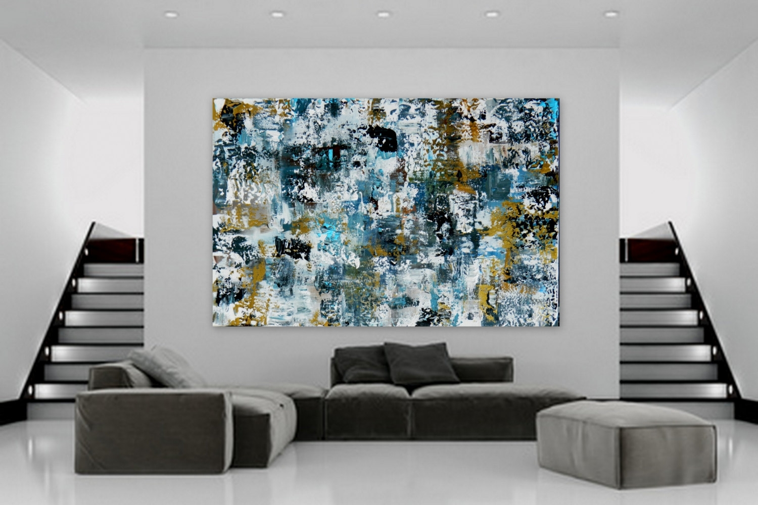 Sample Huge Abstract Modern Contemporary Paintingmarcy Chapman within Contemporary Wall Art Decors (Image 16 of 20)
