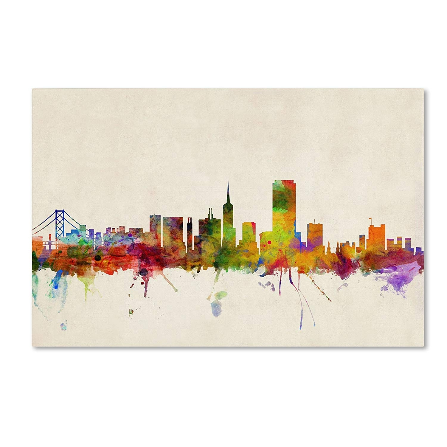 San Francisco, Californiamichael Tompsett, 22 32-Inch Canvas throughout San Francisco Wall Art (Image 17 of 20)