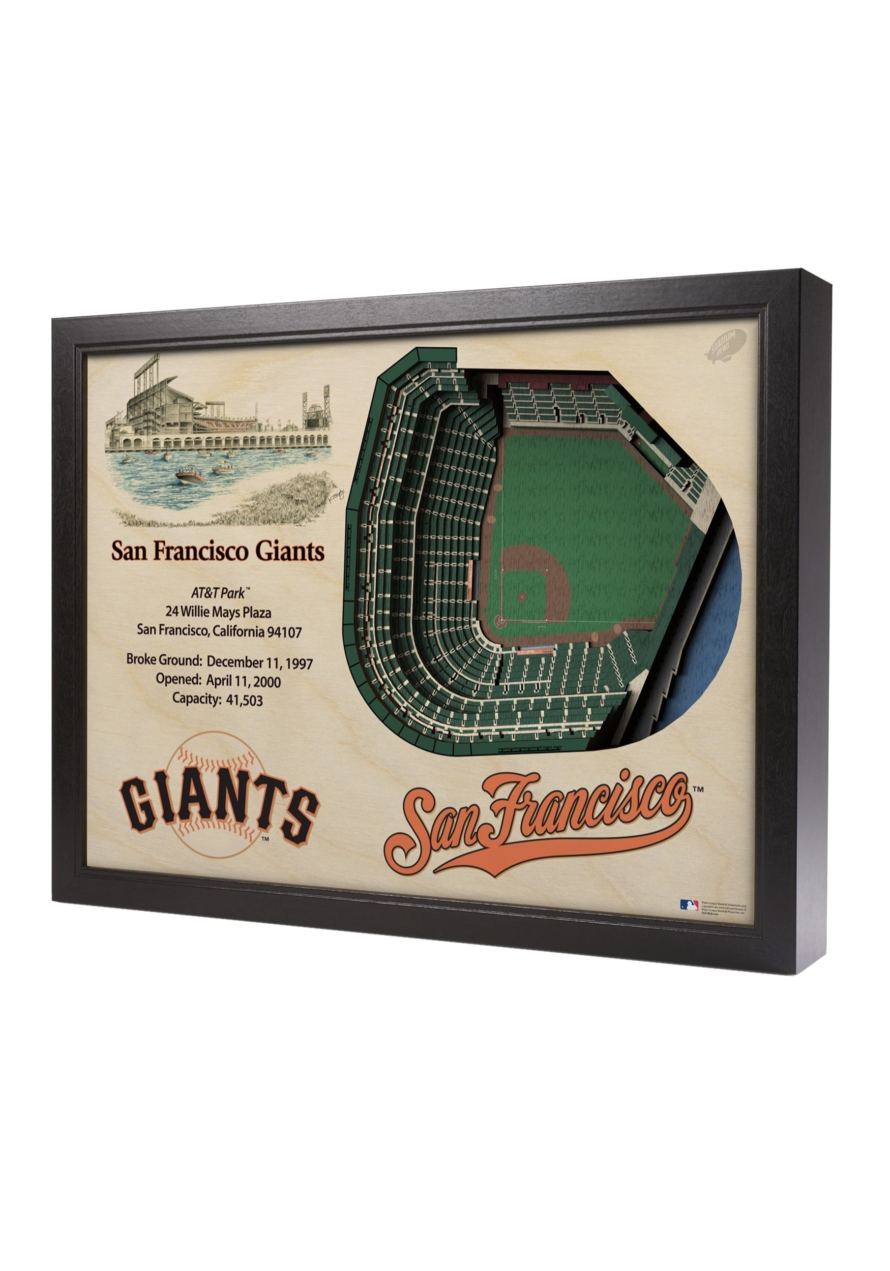 San Francisco Giants Stadiumviews 5 Layer 3D Wall Art in San Francisco Wall Art (Image 13 of 20)