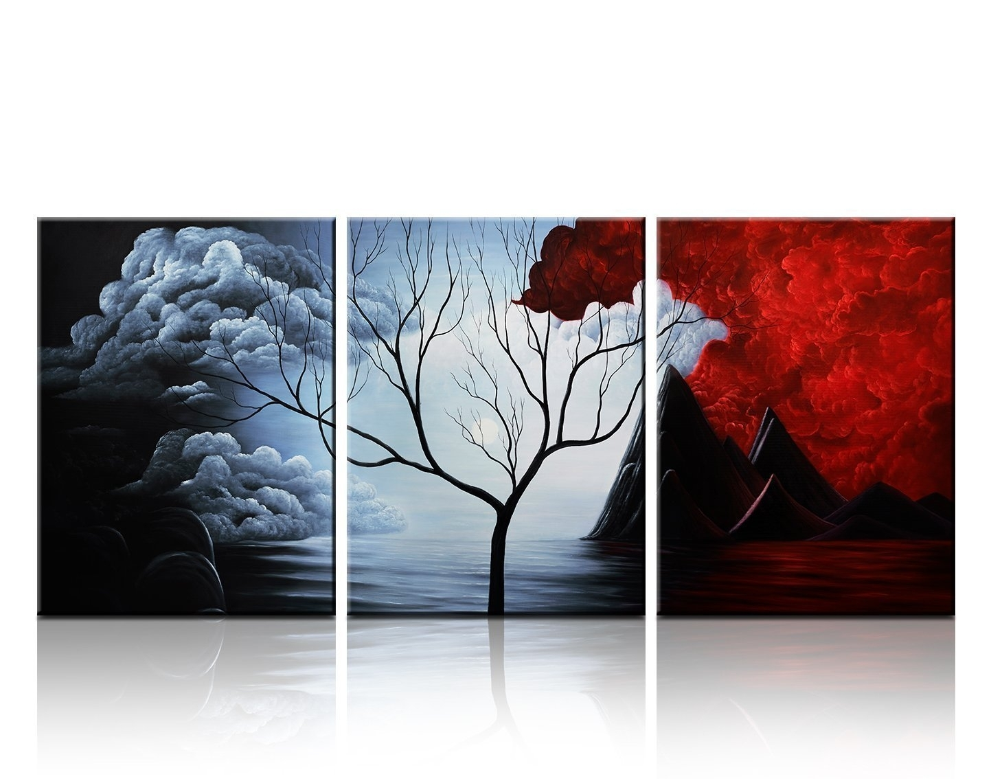 Santin Art- Modern Abstract Painting The Cloud Tree High Q. Wall for Modern Abstract Painting Wall Art (Image 20 of 20)