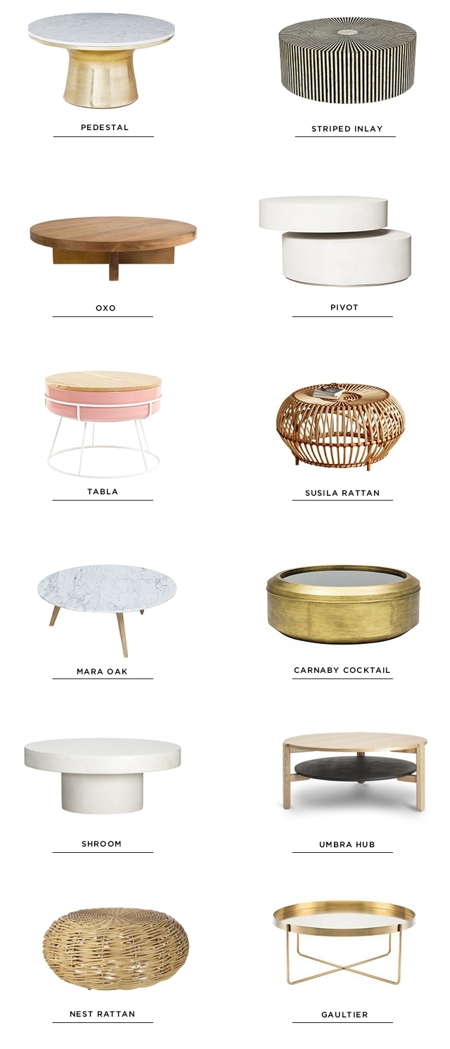 Sarah Sherman Samuel:12 Round Coffee Tables | Sarah Sherman Samuel regarding Shroom Coffee Tables (Image 23 of 30)