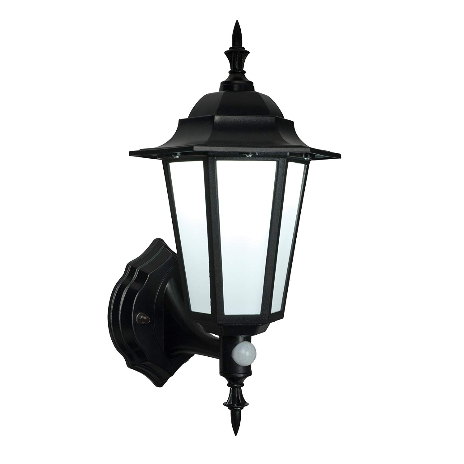 Saxby Evesham 7W Black Traditional Outdoor Garden Security Photocell with regard to Outdoor Pir Lanterns (Image 18 of 20)