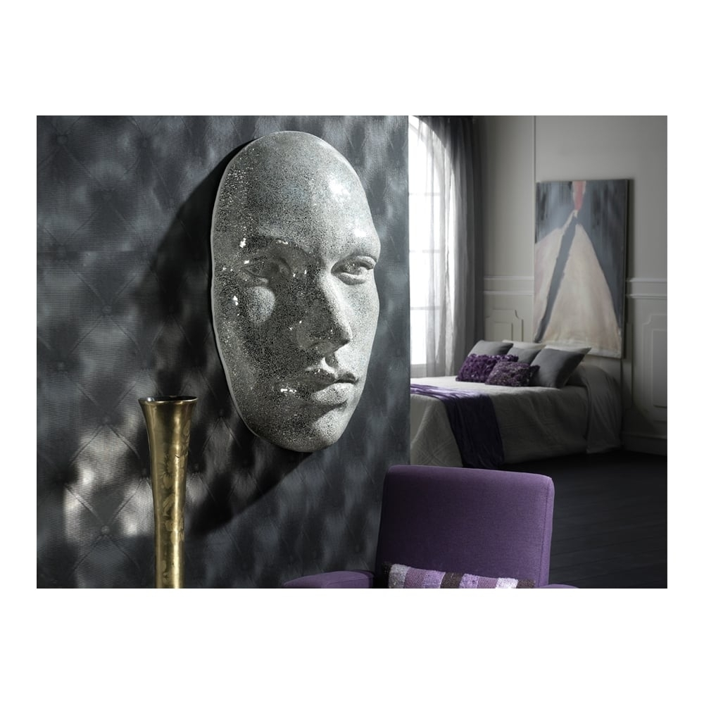 Schuller Sku41132I4L Faz Silver Mirror Mask | Ideas4Lighting throughout Mirror Mosaic Wall Art (Image 17 of 20)