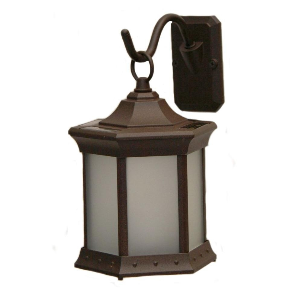 Sconce Hook Frosted Glass Solar Lantern-Sl-Stfg - The Home Depot with Outdoor Glass Lanterns (Image 16 of 20)