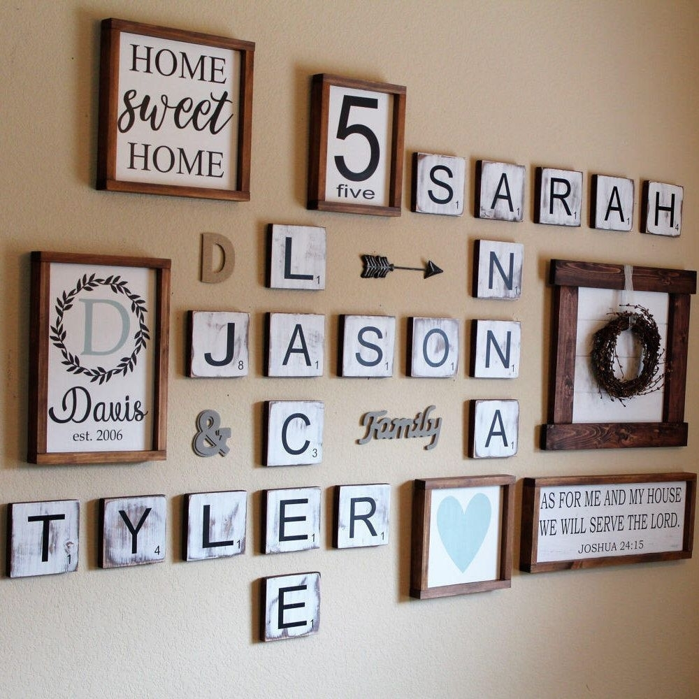 "Scrabble Letter Wall Decor Best Of 5 5"" Scrabble Tiles Scrabble Wall Throughout Scrabble Wall Art (View 16 of 20)"