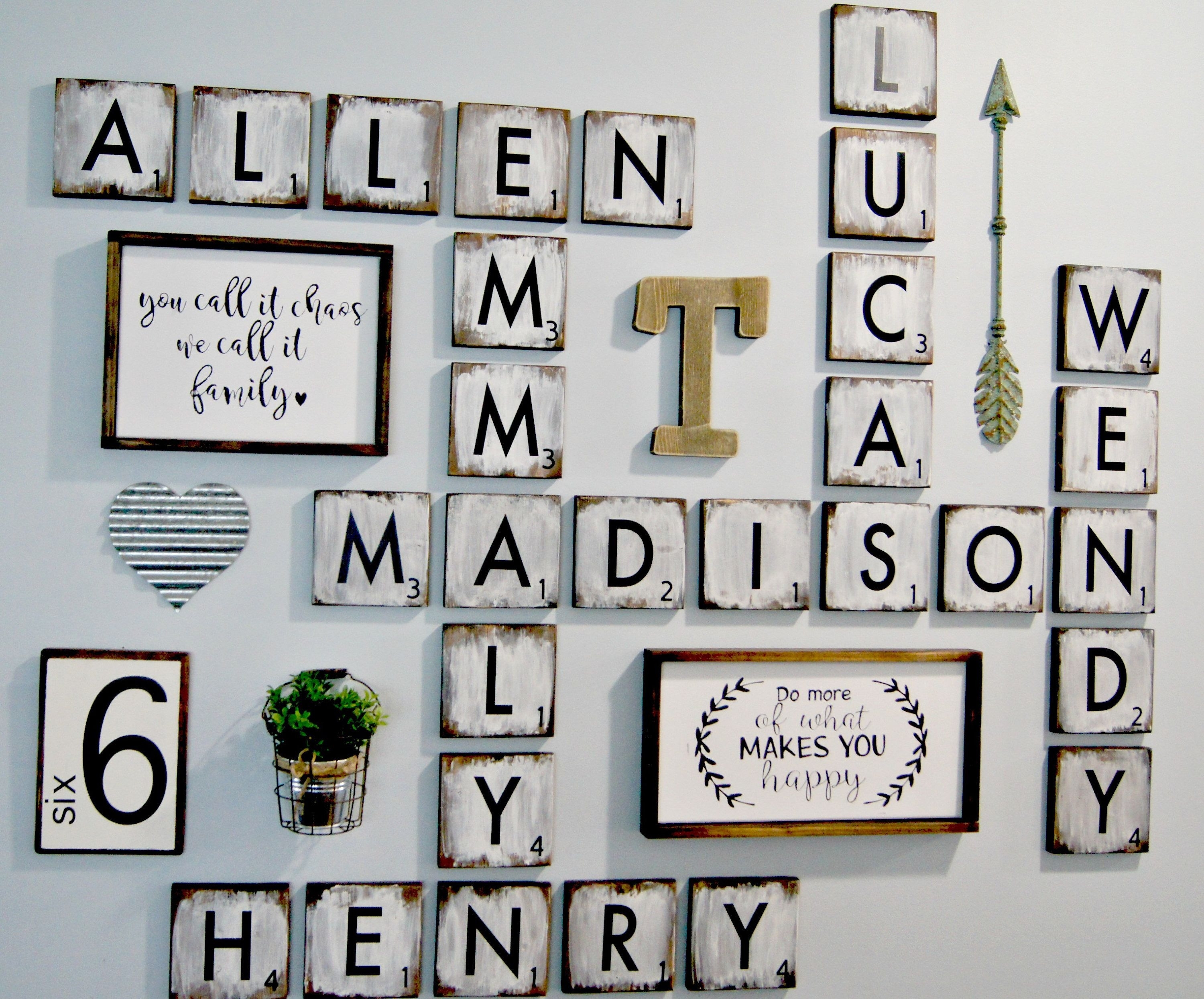 Scrabble Letters Wall Decor Diy Pinterest Design Of Family Scrabble Inside Scrabble Wall Art (View 17 of 20)
