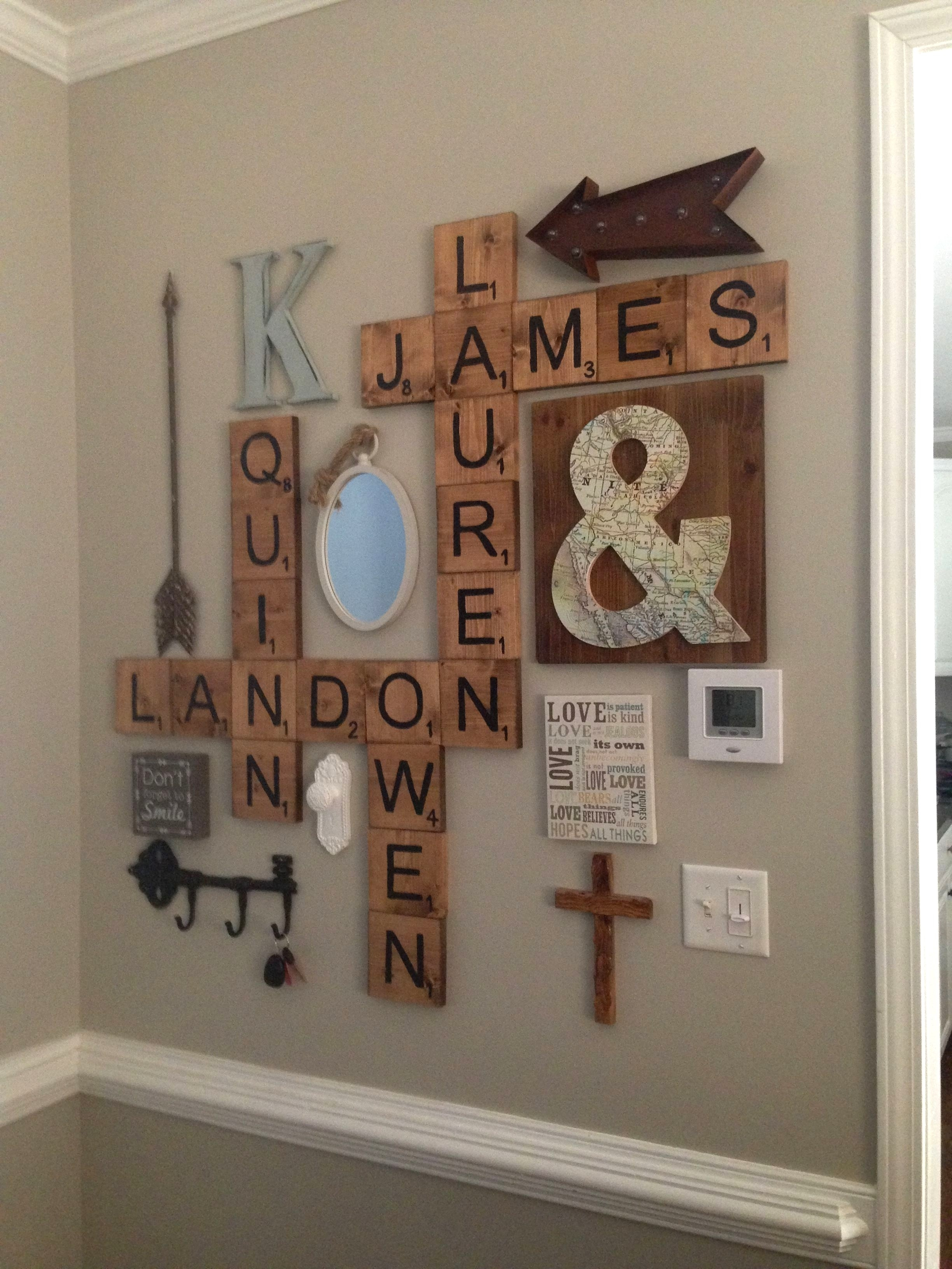 Scrabble Letters Wall Decor Diy Pinterest Scheme Of Family Scrabble With Scrabble Wall Art (View 18 of 20)
