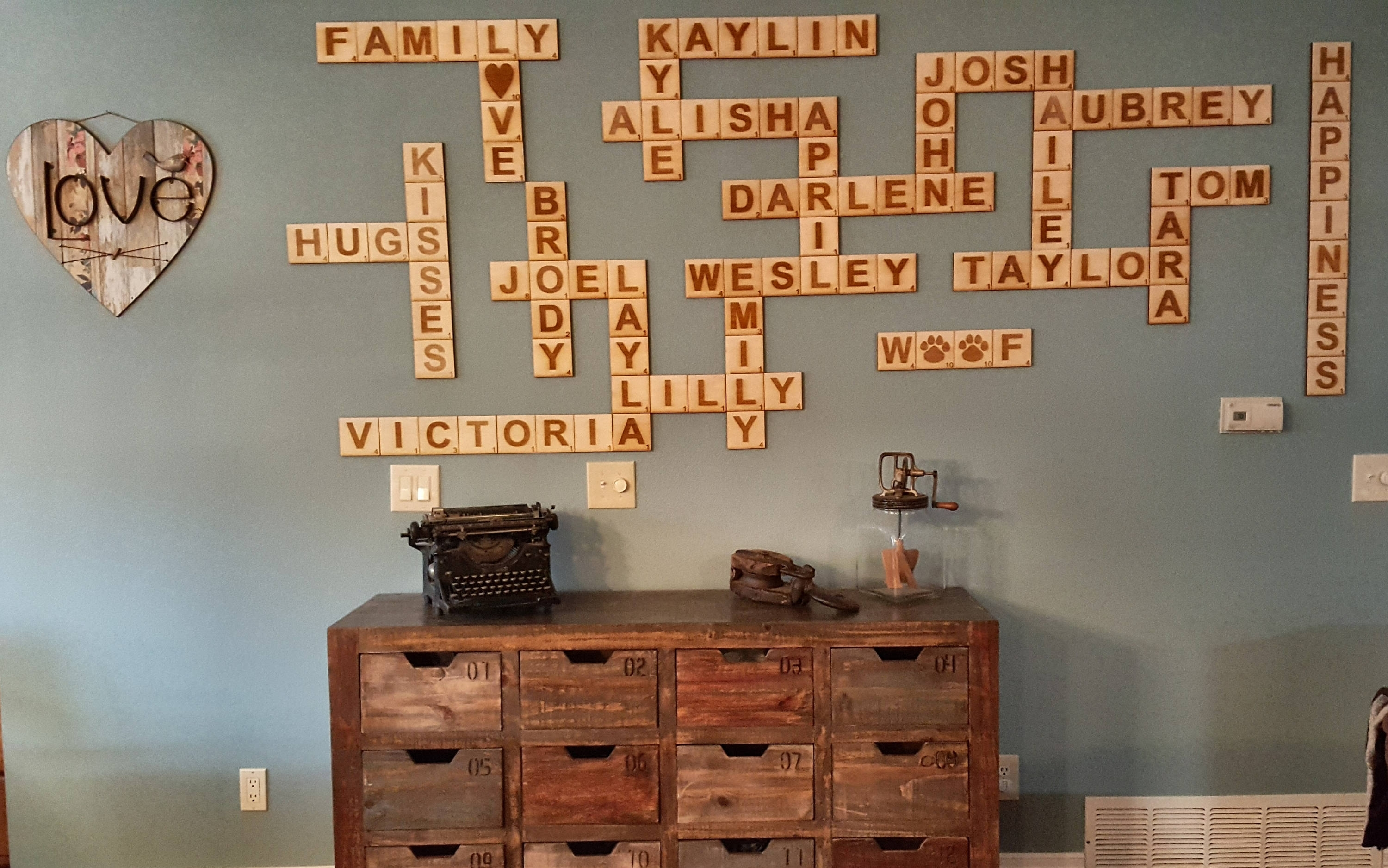 Scrabble Wall Tiles, Scrabble Letters, Scrabble Tiles, Scrabble Wall Pertaining To Scrabble Wall Art (View 19 of 20)