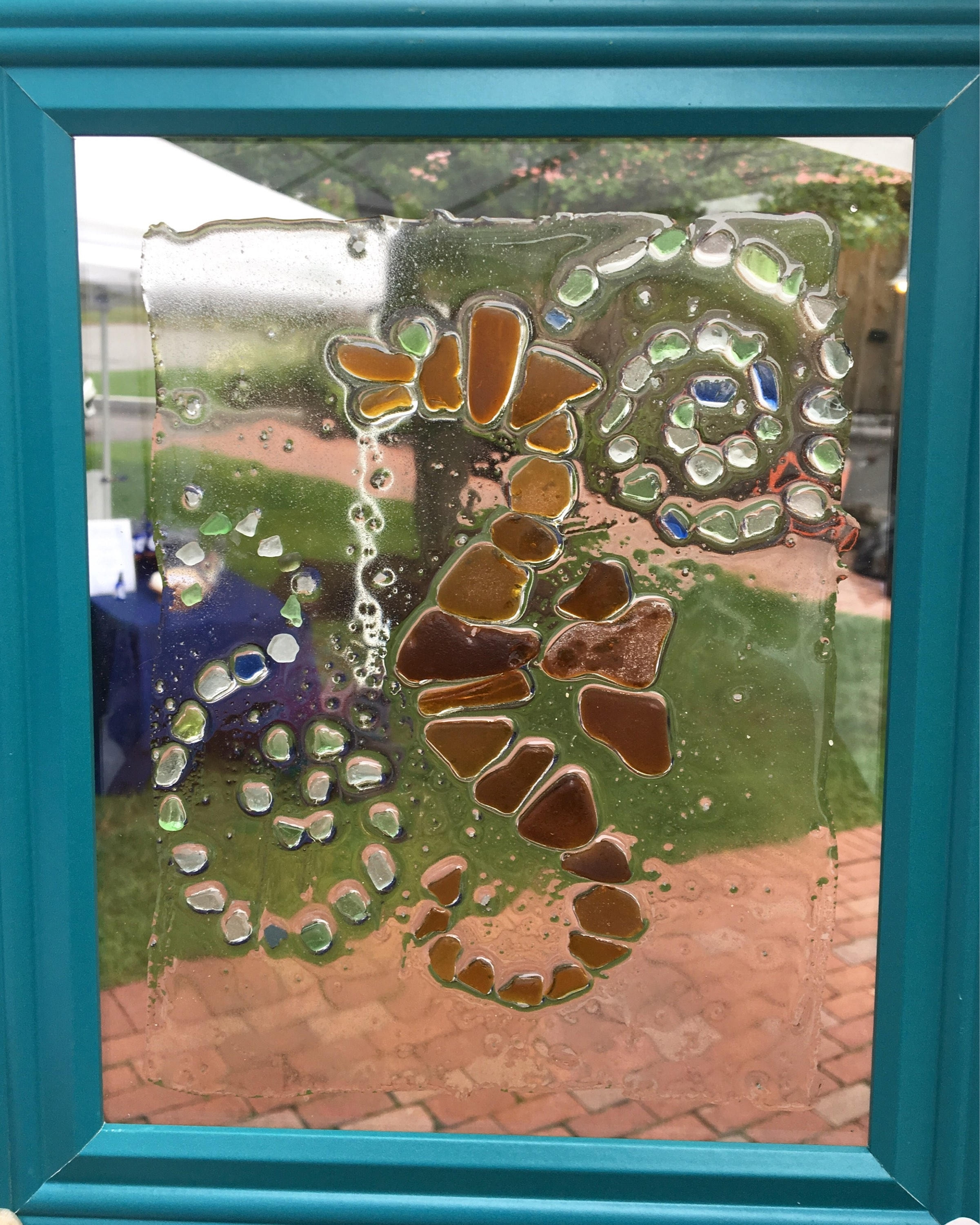 Sea Glass Wall Art: Seahorse Design Made From Genuine Sea Glass 8X10 Throughout Sea Glass Wall Art (View 18 of 20)