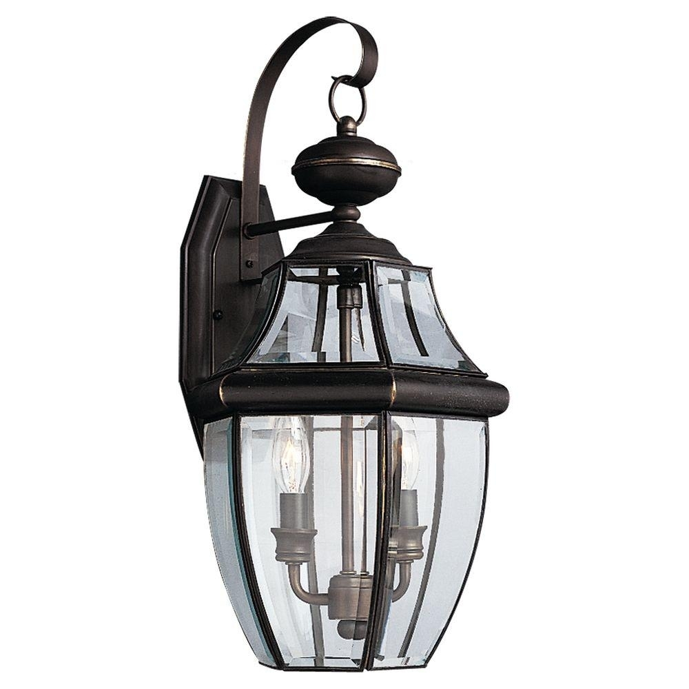 Sea Gull Lighting Lancaster 2-Light Antique Bronze Outdoor Wall in Antique Outdoor Lanterns (Image 17 of 20)