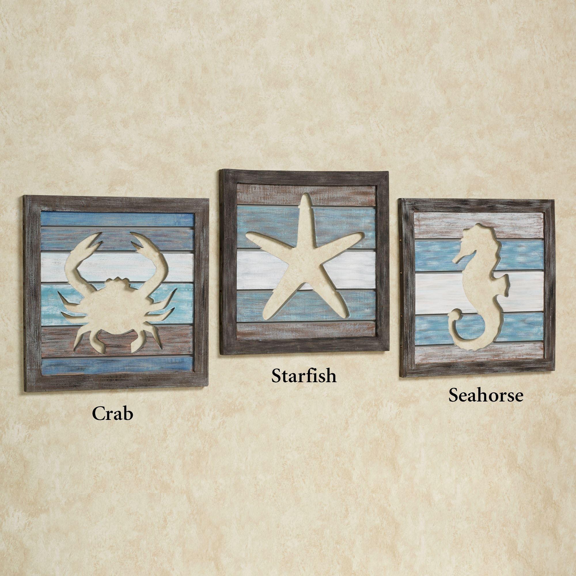 Sealife Cutout Slat Indoor Outdoor Coastal Wall Art inside Sea Life Wall Art (Image 18 of 20)