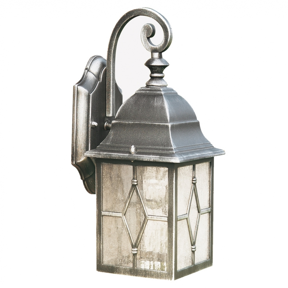 Searchlight Geona Traditional Die Cast Aluminium Outdoor Lantern with Outdoor Lanterns With Pir (Image 19 of 20)