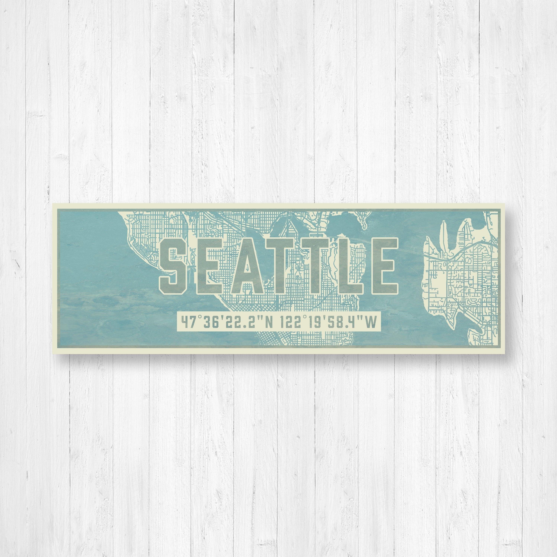 Seattle Map, Seattle Map Print, Map Art, Map Wall Decor, Seattle For Seattle Map Wall Art (View 12 of 20)