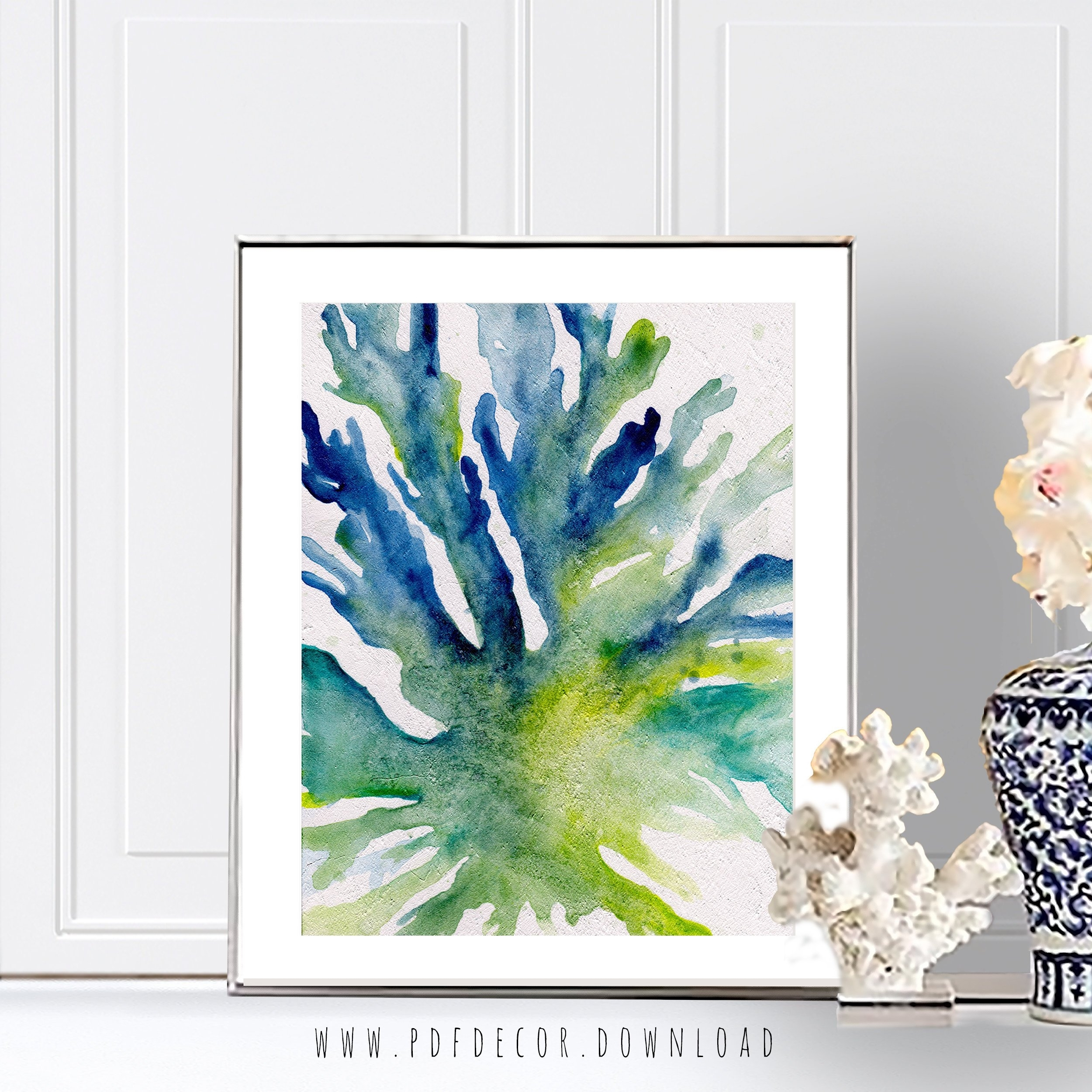 Seaweed Prints, Watercolor Seaweed, Coastal Wall Art, Beach Decor with Coastal Wall Art (Image 15 of 20)