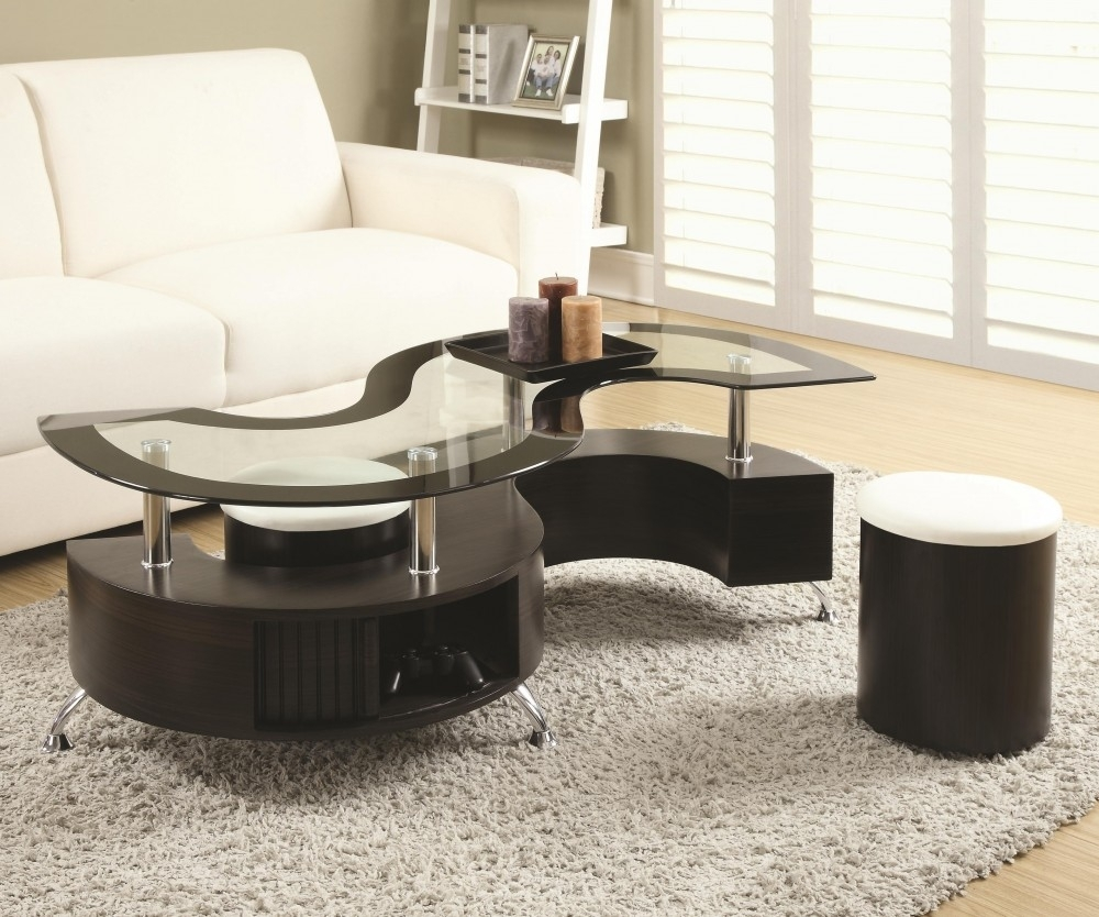 Serpentine Coffee Table With Stools | Cocktail Tables | Seat-N-Sleep with regard to Element Coffee Tables (Image 28 of 30)