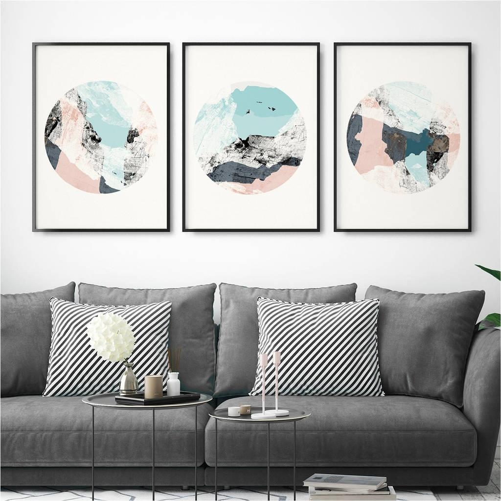 Set Of Three Abstract Wall Art Printsbronagh Kennedy - Art in Abstract Wall Art (Image 19 of 20)