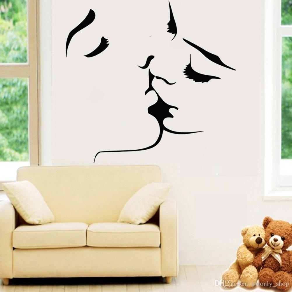Sexy Love Kiss Vinyl Wall Stickers On The Walls Bedroom Wedding In Love Wall Art (View 18 of 20)