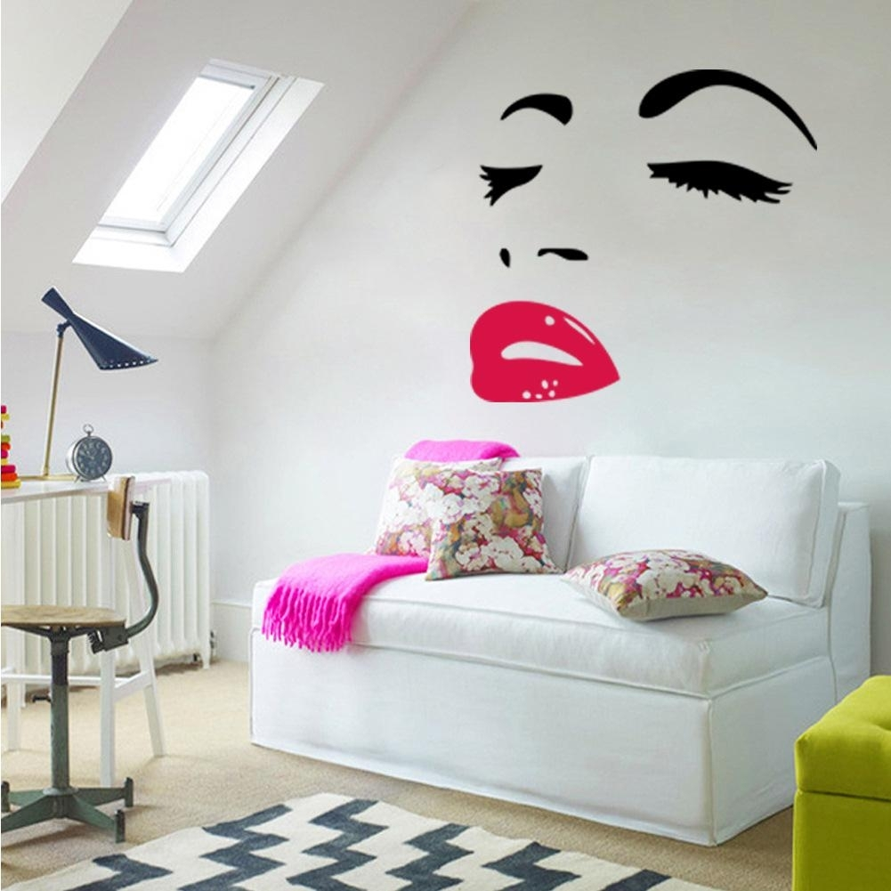 Sexy Woman Audrey Hepburn Wall Art Stickers Decal Diy Home Inside Wall Art Stickers (View 14 of 20)