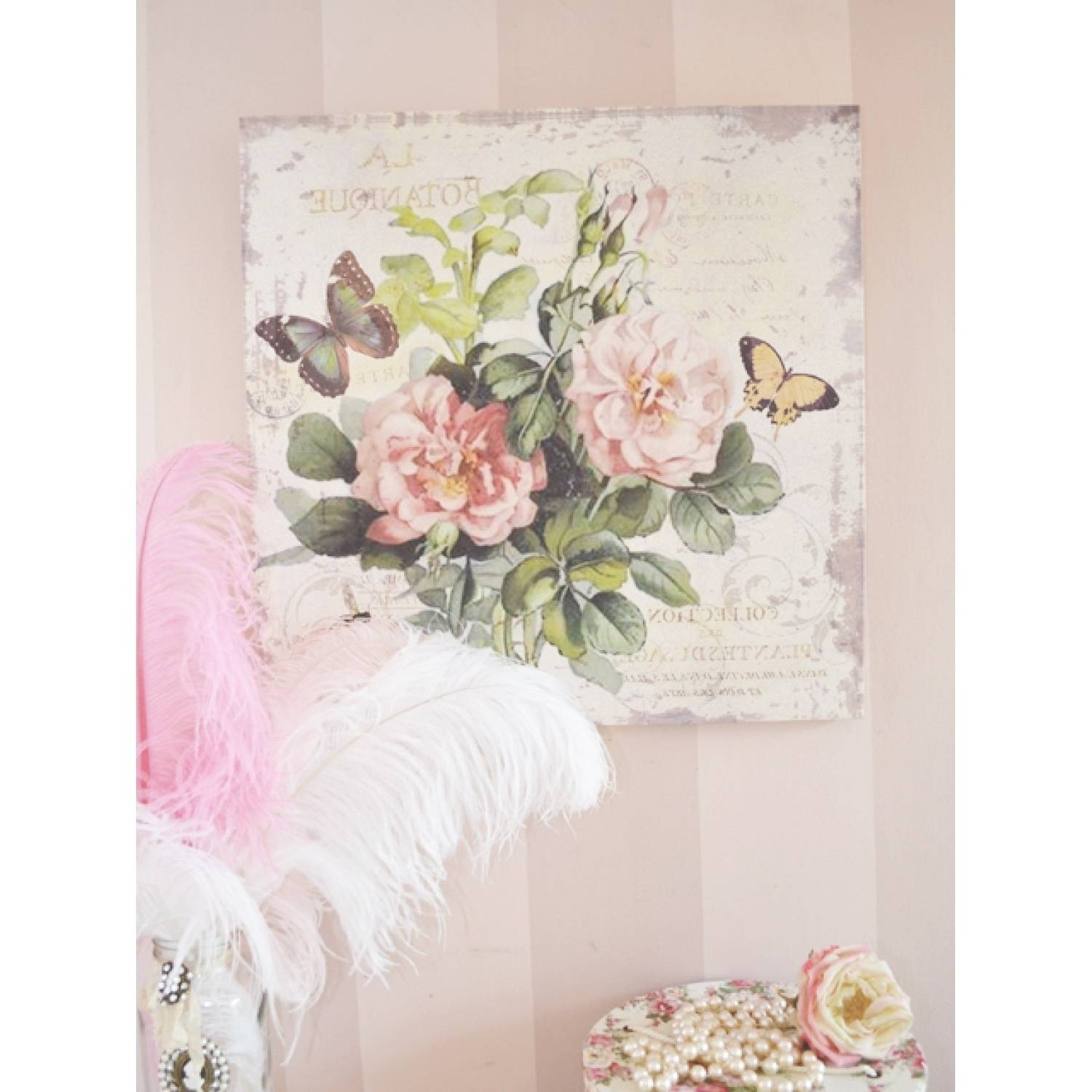 Shabby Chic Wall Decor Ideas | Mysocalblog throughout Shabby Chic Wall Art (Image 16 of 20)