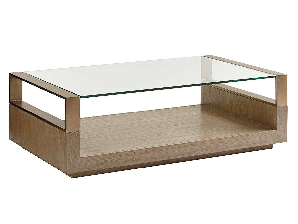 Shadow Play Center Stage Rectangular Cocktail Table | Lexington Home intended for Element Ivory Rectangular Coffee Tables (Image 22 of 30)