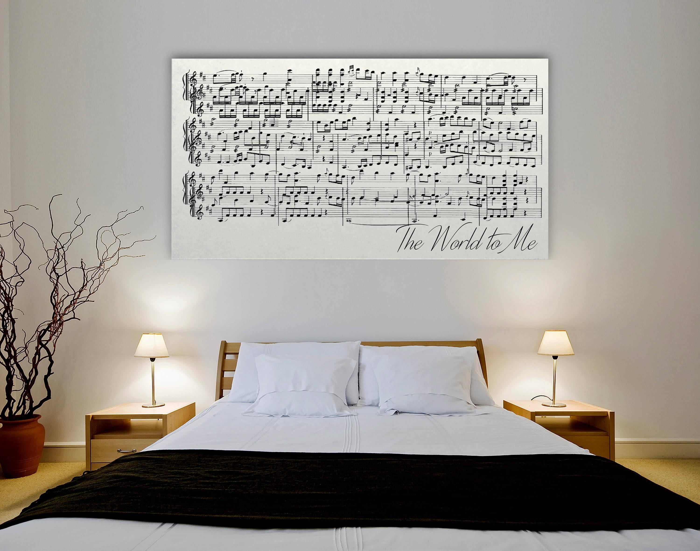 Sheet Music Wall Art First Dance On Canvas Sheet Music Art | Etsy inside Music Wall Art (Image 18 of 20)