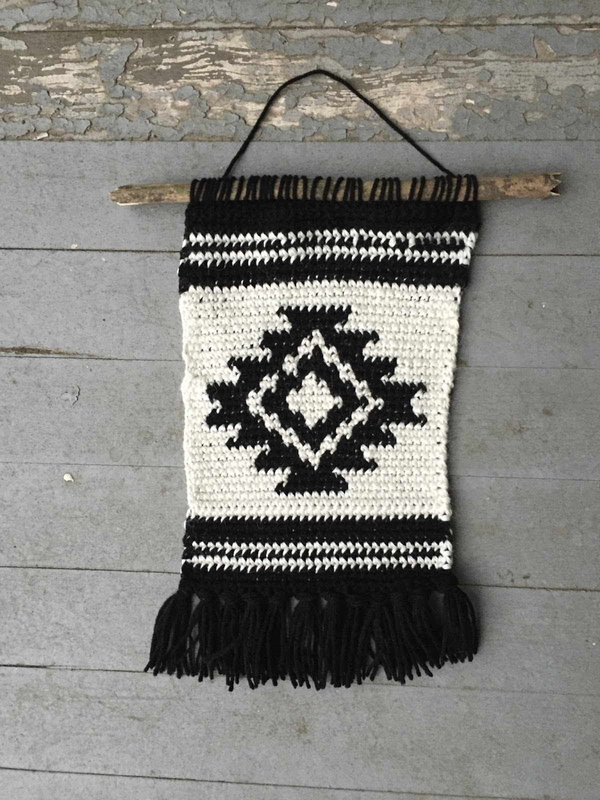 Shirley And Eadie: Crochet Wall Hanging Tutorial throughout Crochet Wall Art (Image 18 of 20)