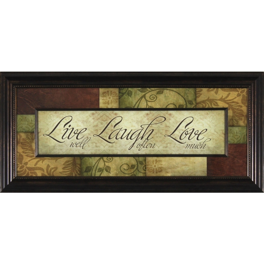 "Shop 13"" X 29"" Live Laugh Love Pop Framed Wall Art At Lowes In Live Laugh Love Wall Art (View 20 of 20)"