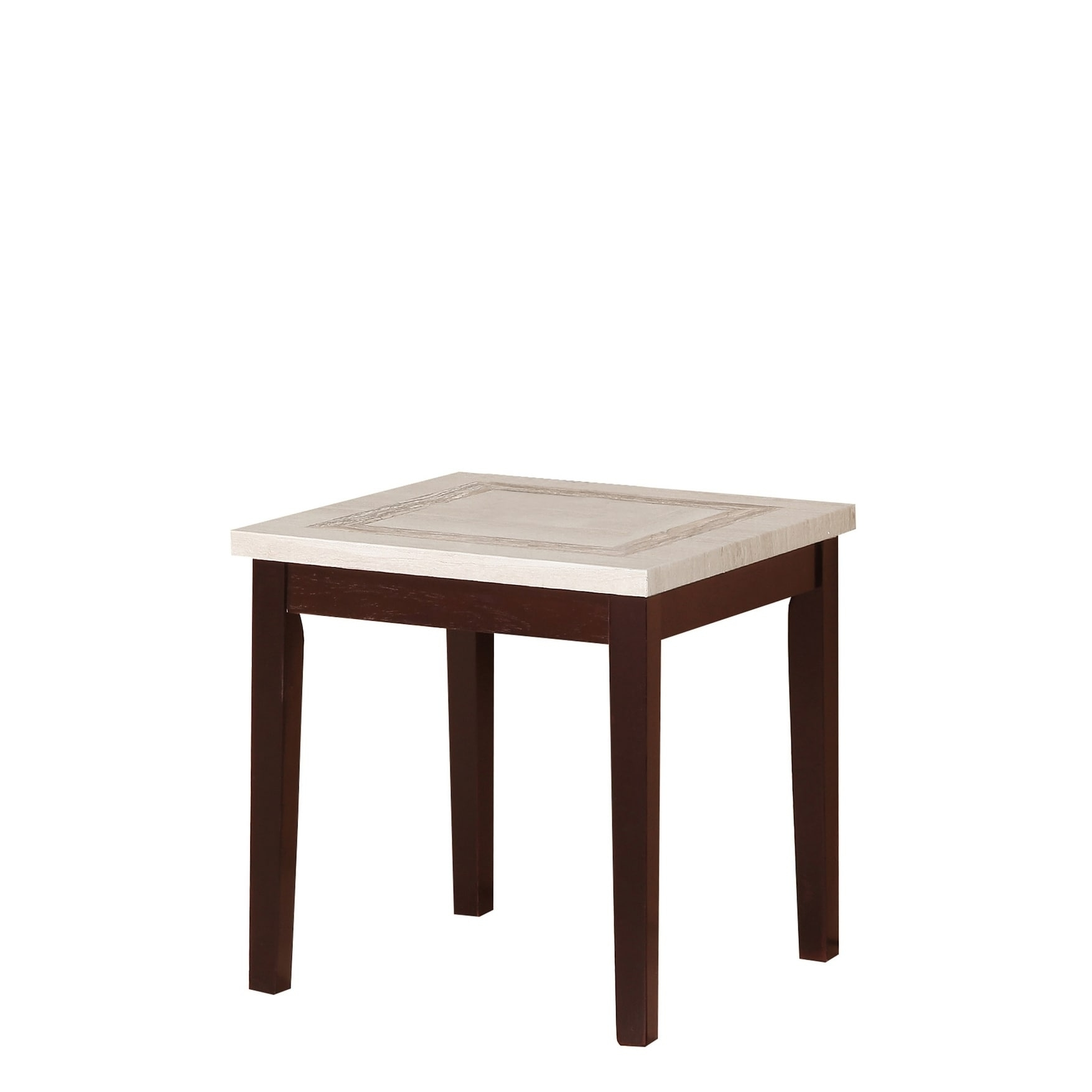 Shop 29.5 Inch Ivory Faux Marbelized Granite End Table - Free inside Element Ivory Rectangular Coffee Tables (Image 23 of 30)