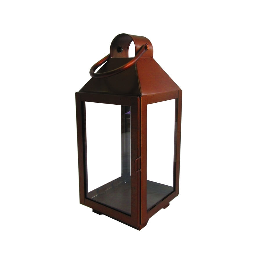 Shop Allen + Roth 5.51-In X 13.19-In Copper Metal Votive Candle pertaining to Outdoor Lanterns and Votives (Image 16 of 20)