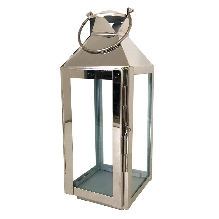 Shop Allen + Roth 5.51-In X 15.19-In Silver Metal Votive Candle inside Outdoor Lanterns and Votives (Image 17 of 20)