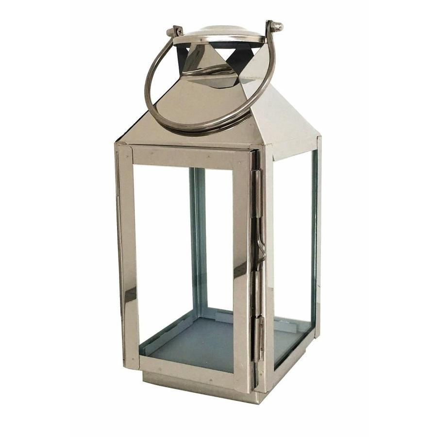 Shop Allen + Roth 5-In X 11.61-In Silver Metal Tea Light Outdoor pertaining to Outdoor Decorative Lanterns (Image 13 of 20)
