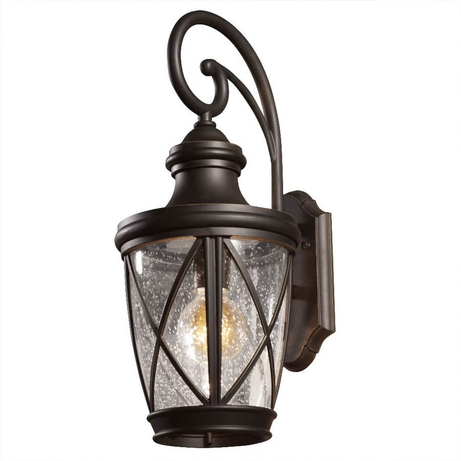 Shop Allen + Roth Castine 20.38-In H Rubbed Bronze Medium Base (E-26 throughout Outdoor Lanterns At Lowes (Image 12 of 20)
