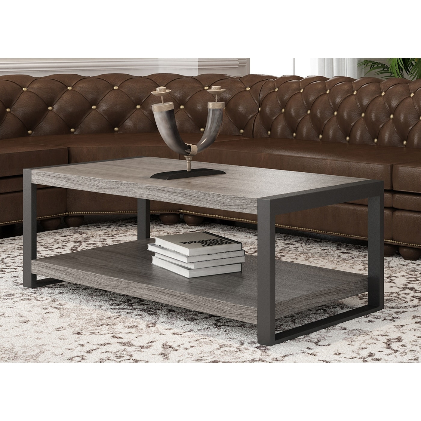 "Shop Angelo:home 48-Inch Coffee Table - On Sale - Free Shipping pertaining to Chevron 48"" Coffee Tables (Image 7 of 9)"